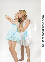 two angels talking