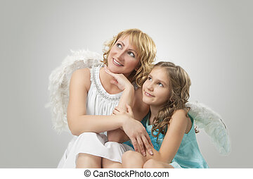 adorable two lovely angels