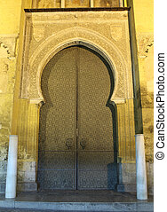 Gate of the medieval Mosque-Cathedral in Cordoba, Andalusia...