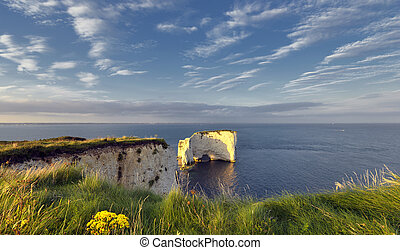 Old Harry Rocks - Summer at Old Harry Rocks near Swanage on...