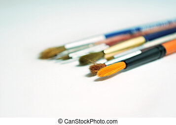 painting brushes - a group of pinting brushes