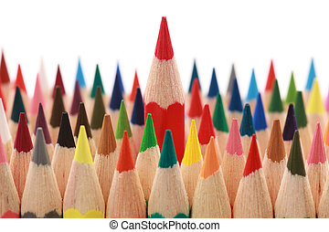 Business concepts: standing out from the crowd - Business...