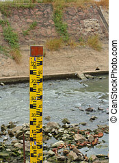Measure the water level in dam