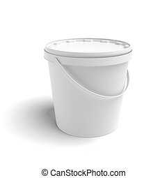 White container isolated on a white background