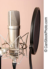 studio microphone - chrome classical professional studio...