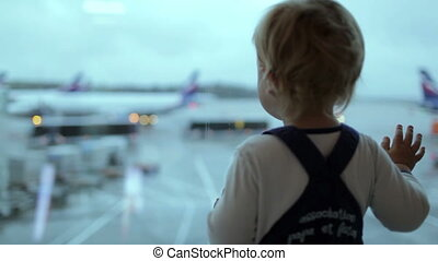 Boy at the airport.