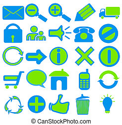 Blue Green Web Icons