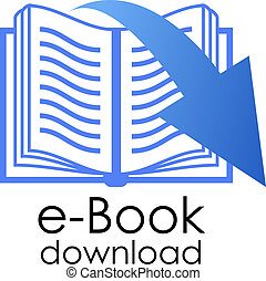 E-book vector symbol isolated on white