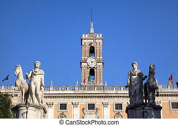 Palazzo Senatorio at Capitoline Hill Roma Rome, Italy