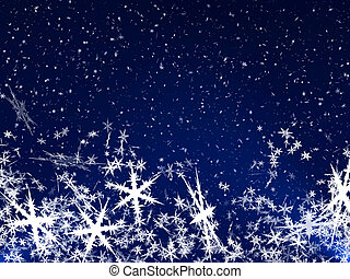 Snow Flakes - Merry Christmas Snow flake on blue background