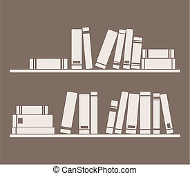 Vector books on the shelves - Books on the shelves vector...