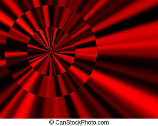 Red metallic discs abstract background - Unusual effect