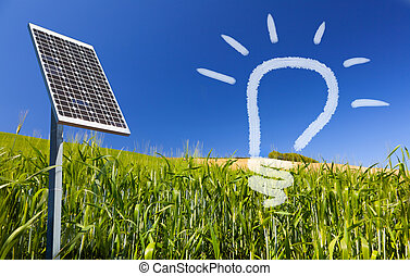Ecological renewable solarpanel sky - Ecological renewable...