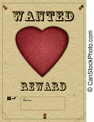 Love wanted poster - Valentine needed!