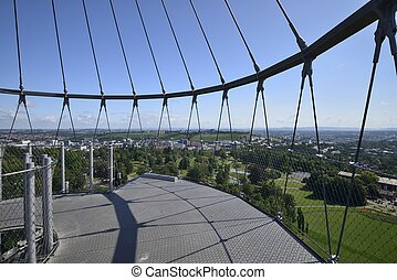 north view from the park tower , Stuttgart - Stuttgart,...