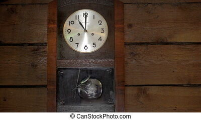 The clock is striking eleven.