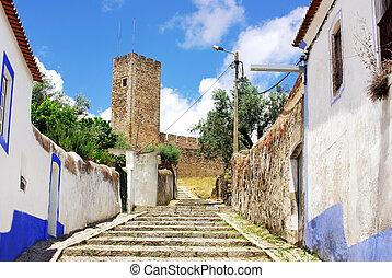 viejo, calle, Arraiolos, aldea