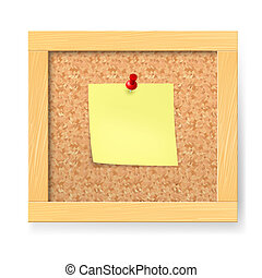Empty notice wooden board