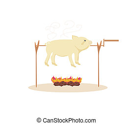 An image of a roasted pig.
