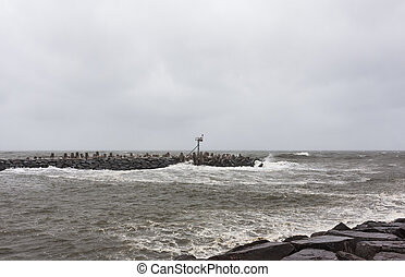 Hurricane Sandy Approaches New Jersey Shore - Point Pleasant...