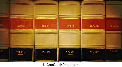Library Law Books - A closeup of old looking law books in a...