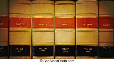 biblioteca, ley, Libros