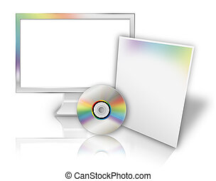 Blank Computer Technology Software Template - A blank...