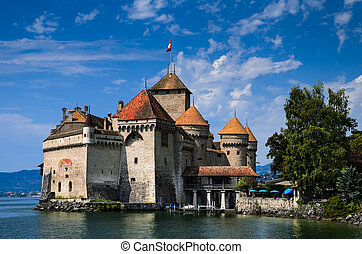 Chateau de Chillon on Lake Geneva, Switzerland - Chillon...