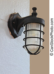 Lighting fixtures on the wall