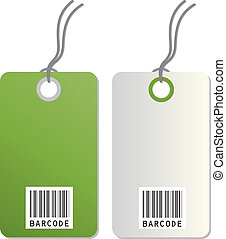 Barcodes isolated on white background