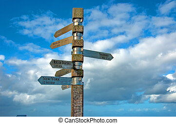 Signpost at cape of good hope