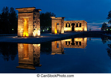 Debod Temple - One of the most visited monuments in Madrid