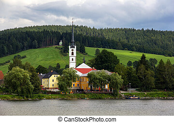 Frymburk at Lipno lake. - Frymburk - small town near Lipno...
