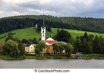 Frymburk at Lipno lake. - Frymburk - small town near Lipno...