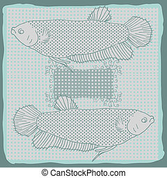 Fishes original drawing- vectorized