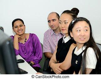 Working - Computing team at work