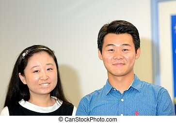 Two Chinese workers