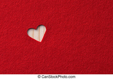 Red felt with heart