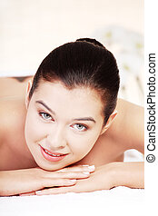 Young woman in a spa salon