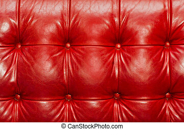 Red Leather Background of sofa.