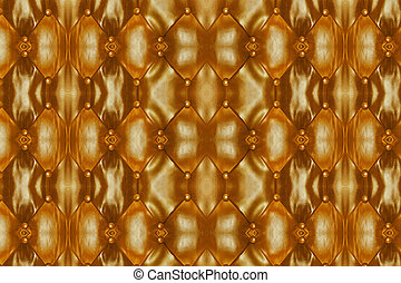 Golden Leather Background of sofa.