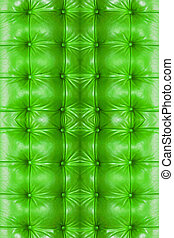Green Leather Background of sofa.