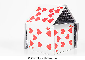 House of Cards - A house made out of playing cards