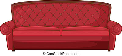 A red sofa