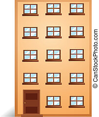 An apartment - Illustration of a apartment on a white...