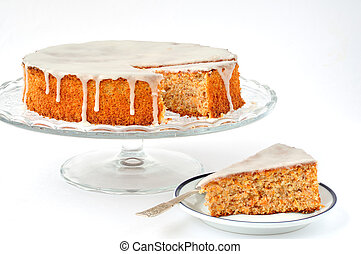 Carrot and Almond Cake - Traditional Italian carrot and...