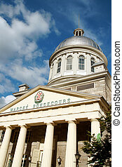 Marche Bonsecours the marketplace of Vieux-Montreal Erected...