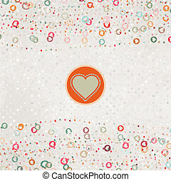 Valentine card with heart. EPS 8