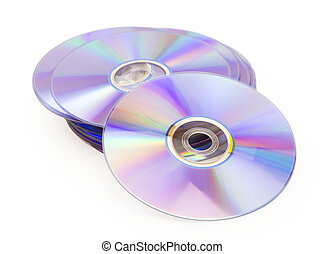 dvd disk isolated on white background