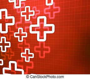 Medical Cross Red Background